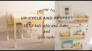 How To Up-cycle And Protect Ikea Kids Table, Chairs And Spice Racks Ikea Mammut Kids Table And Chairs Mammut 2 Sells For 35 Origin Kritter Kids Table Chairs Fniture Tables Two High Quality Childrens Your Pixy Home 18 Diy Latt And Hacks Shelterness Set Of Sticker Designs Ikea Hackery Ikea