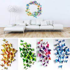 3D PVC Wall Stickers Fridge Magnet Butterflies DIY Sticker Home Decor Kids Rooms Decoration 17Sets Lot
