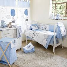 Baby Boy Nursery Curtains Uk by Disney Blue Winnie The Pooh Play Crib Bedding Boys Crib Bedding
