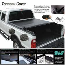 100 F 150 Truck Bed Cover Its 20042018 Ord Soft ROLL UP Lock Tonneau 55ft 66