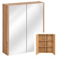 badezimmer spiegelschrank 60 cm artisan eiche nb 2 softclose türen