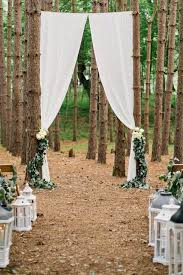 Rustic Forest Wedding Ceremony Backdrop Decoration Ideas