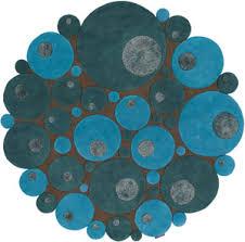 modernrugs blue textured modern round rug
