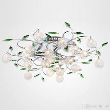 cheap led ceiling light modern green leaves light