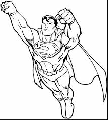 Astonishing Superman Printable Coloring Pages Boys With For And