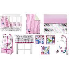Bacati Crib Bedding by Bacati Botanical Pink Multi 10 Piece Nursery In A Bag Crib
