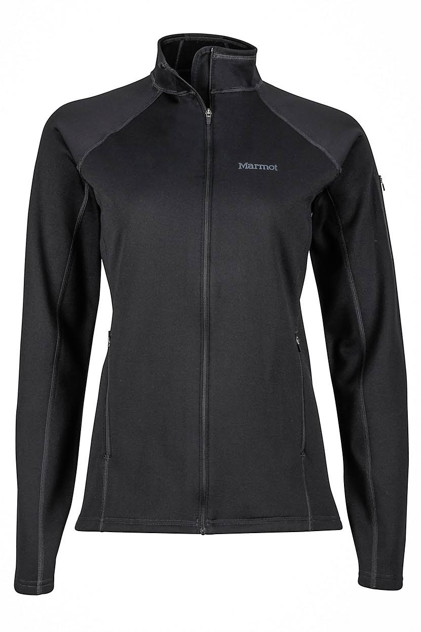 Marmot Stretch Fleece Jacket - Women's-Black-Small