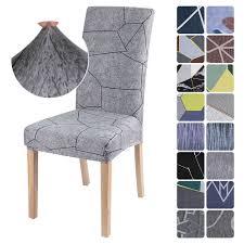 1 2 4 6 stücke elastische stretch esszimmer stuhl abdeckung abnehmbare hussen protector staubdicht möbel dekor für hochzeit bankett