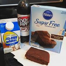 Easy brownie recipe I found on Pinterest Mix the package of sugar free brownie mix