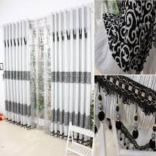 Absolute Zero Curtains Uk by Black And Cream Curtains For Living Room Red Blackout White Drapes