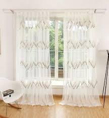 details zu voile gardine vorhang schlaf wohnzimmer welle mit ösen uni creme weiß 1er pack