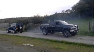 100 Truck Tug Of War Land Rover Defender 90 Takes On Dodge Ram Cummins In Epic O