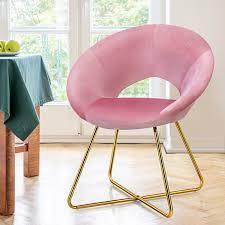 costway polstersessel mit metallbeinen schminktisch stuhl