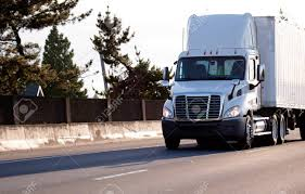 100 Aerodynamic Semi Truck A Modern Big Rig Bright White Local Haul Mediumduty Semi Truck
