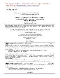 Journeyman Plumber Resume