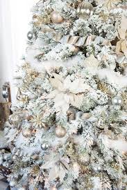How To Decorate A Flocked Gold And Silver Winter Wonderland Christmas Tree Michaels Dream