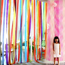 25Meter Multicolor Crepe Paper Roll DIY Photography Backdrops Wedding Supplies Kids Adult Birthday Party Decorations