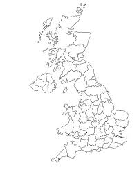 England Map Coloring Page Outline Of United
