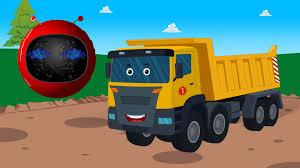 100 Dump Trucks Videos Zobic Truck Spaceship Songs For Children Cartoon