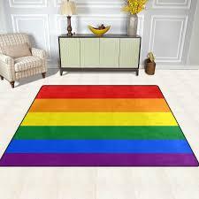 naanle rainbow flag rutschfester teppich für wohnzimmer