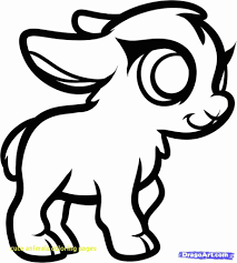 Cute Baby Animal Coloring Pages Dragoart Az Within Animals And