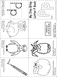 Kinder Letter P Colouring Pages