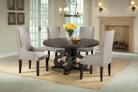 Stone Round Dining Room Set W/ Upholstered Chairs Elements Furniture ... Trisha Yearwood Home Music City Hello Im Gone Ding Room Table Grey Griffin Cutback Upholstered Chair Along With Dark Wood Amazoncom Formal Luxurious 5pc Set Antique Silver Finish Tribeca Round And 2 Upholstered Side Chairs American Haddie Light Tone 4 Value Hooker Fniture Corsica Rectangle Pedestal Matisse With W Ladder Back By Paula Deen Vienna Merlot Kayla New