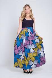 long tribal wax print colourful skirt from colu uk