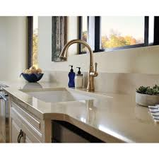 Delta Lahara Faucet Champagne Bronze by Fascinating Champagne Bronze Kitchen Faucet Also Delta Cassidy