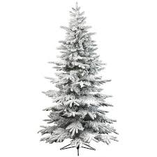7ft Christmas Tree With Lights by Flocked Artificial Christmas Trees Flocked Christmas Tree With
