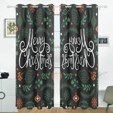 Amazoncom JSTEL Christmas Snowman Curtains Drapes Panels Darkening