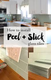 Cutting Glass Tile Backsplash Wet Saw by Installing Peel And Stick Glass Tiles U2014 Weekend Craft