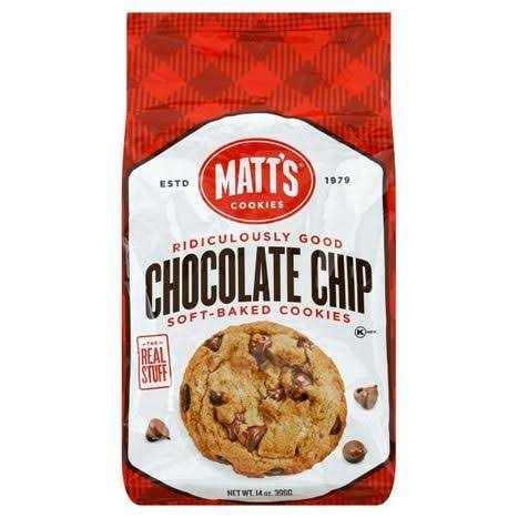 Matts Cookies, Soft-Baked, Chocolate Chip - 14 oz