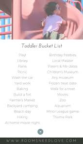 Toddler Bucket List 25 Activities For Any Time Of Year