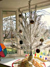 Rotating Color Wheel For Aluminum Christmas Tree dime store chic merry christmas from our holiday home