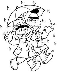 8 Pics Of Bert And Ernie Coloring Pages