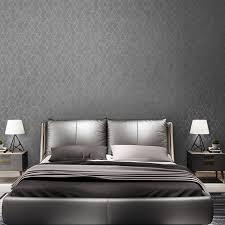 dunkelgrau luxus geometrische tapete rolle schwarz grau modernes design schlafzimmer wohnzimmer hintergrund home decor