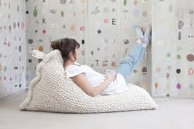 These Knitted Beanbags By Zilalila Look Good To Me Weve Never Tried At Our House But The Idea Of A Cozy Reading Spot With An Oversize Cushion