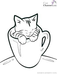 Christmas Kitten Coloring Pages Book Adult Puppies And Kittens Page Color Love