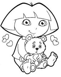 Free Printable Dora Coloring Pages The Explorer Getcoloringpages