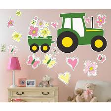 Pink John Deere Bedroom Decor by Farm Tractor Giant Wall Decal