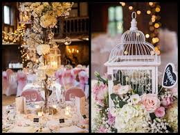 Rustic Shabby Chic Bird Cage Centrepieces