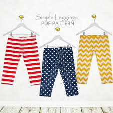 Girls Leggings Pattern Pdf Sewing Pattern Pdf Childrens Etsy