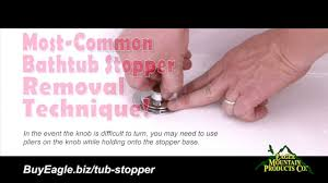 Bathtub Drain Plug Removal Tips by How To Remove Most Common Bathtub Stoppers Replace With Watco