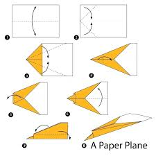 Paper Airplane Design Download Step By Instructions How To Make Origami A Plane Stock