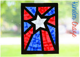 Patriotic Stained Glass Window Craft
