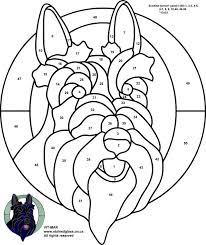 Stained Glass Patterns For Free Tiffany 961 Dog