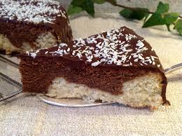 kuchen mit kokosmilch und schokolade