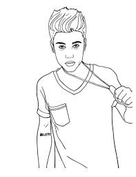 Justin Bieber Coloring Pages To Print 15 Awesome Design Stylizr