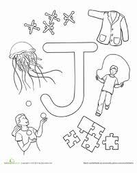 Preschool Reading Writing Worksheets J Is For